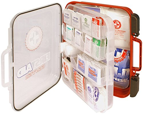 First Aid Kit Hard Red Case 326 Pieces Exceeds OSHA and ANSI Guidelines 100 People - Office, Home, Car, School, Emergency, Survival, Camping, Hunting, and Sports - 4