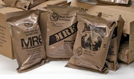 MREs (Meals Ready-to-Eat) Genuine U.S. Military Surplus Assorted Flavor (4-Pack) - 1