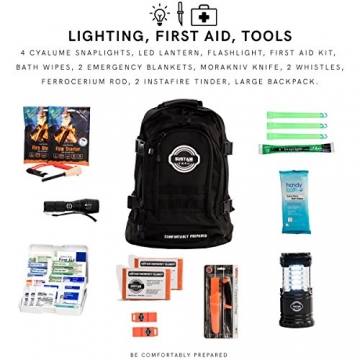 Premium Emergency Survival Bag/Kit – Be Equipped with 72 Hours of Disaster Preparedness Supplies for 2 People - 3