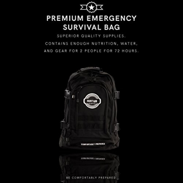 Premium Emergency Survival Bag/Kit – Be Equipped with 72 Hours of Disaster Preparedness Supplies for 2 People - 4