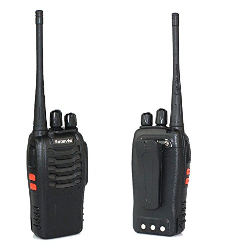 Retevis H-777 Two Way Radio UHF 400-470MHz Signal Frequency Single Band 16 CH Walkie Talkies with Original Earpiece (10 Pack) - 4