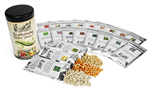 Survival Seed Vault Non-GMO Hardy Heirloom Seeds for Long-Term Emergency Storage – 20 Variety Pack in a Sturdy Can - 2