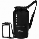 Earth Pak- Waterproof Dry Bag with Front Zippered Pocket Keeps Gear Dry for Kayaking, Beach, Rafting, Boating, Hiking, Camping and Fishing with Waterproof Phone Case - 1